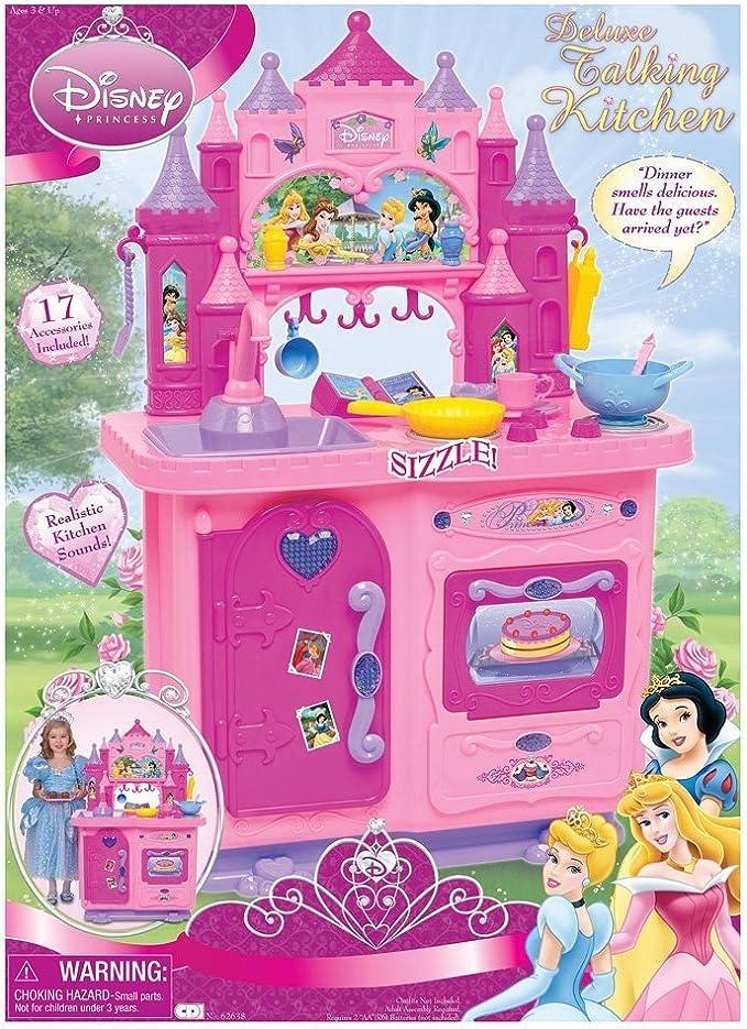 Amazon Com Disney Princess Deluxe Talking Kitchen Toys Games