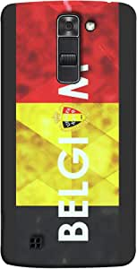 ColorKing Football Belgium 03 Multicolor shell case cover for LG K10