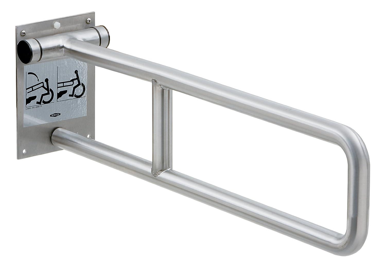 "Bobrick 4998.99 304 Stainless Steel Swing-nach oben Grab Bar, Peened Finish, 29"" Width X 8-3/4"" Height"