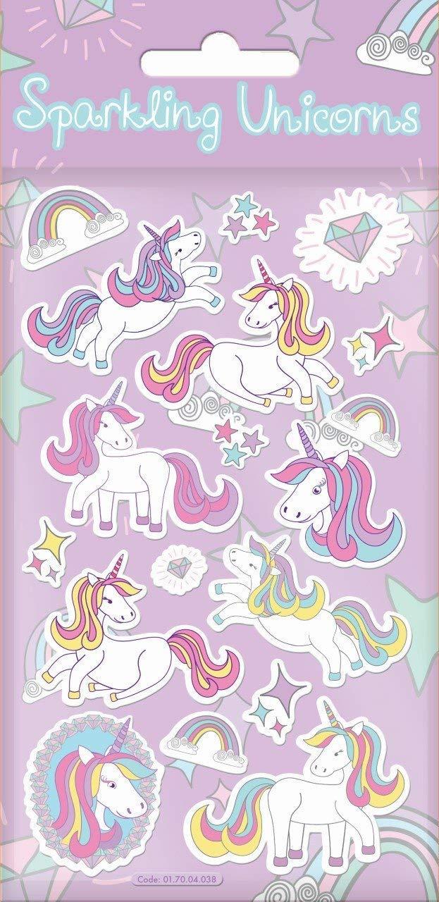 Papel Proyectos 01.70.04.038Brillante Unicornio Pegatinas Paper Projects