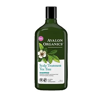 Amazon Com Avalon Organics Scalp Treatment Tea Tree Shampoo 11 Oz Pack Of 2 Hair Shampoos Beauty