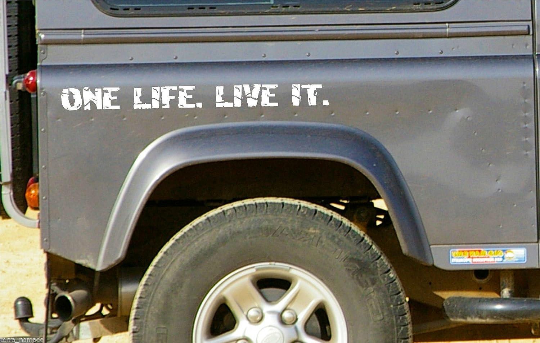 White One Life Live It Stickers Vinyl