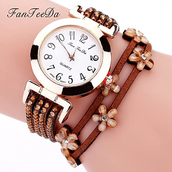 Womens cuarzo relojes, tecla único Winding analógico Remoción Diamond Lady relojes relojes para mujeres en