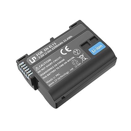 LP EN-EL15 EN EL15a Battery, Lithium-Ion Battery, Compatible with Nikon  D500, D600, D610, D750, D800, D800e, D810, D810a, D850, D7000, D7100,  D7200,