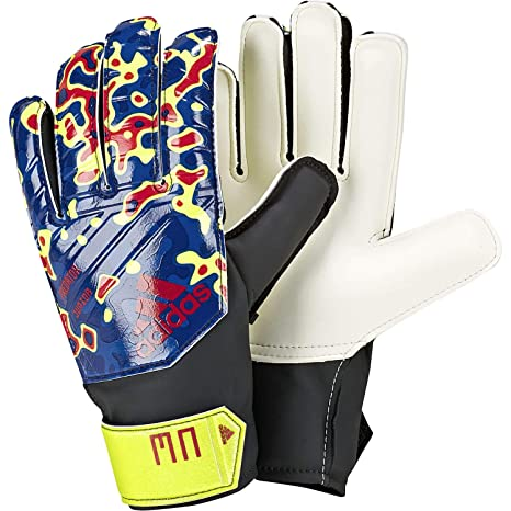 check out bf9bc 8efda adidas Kinder Predator Manuel Neuer Torwarthandschuhe, Solar Yellow Football  Blue Active Red,