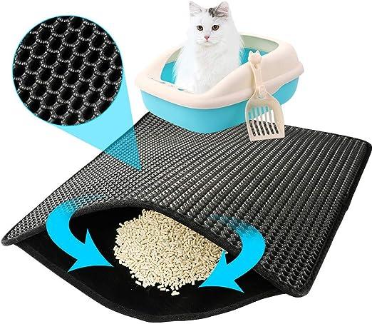 Amazon.com: Alfombrilla para recoger arena de gato ...