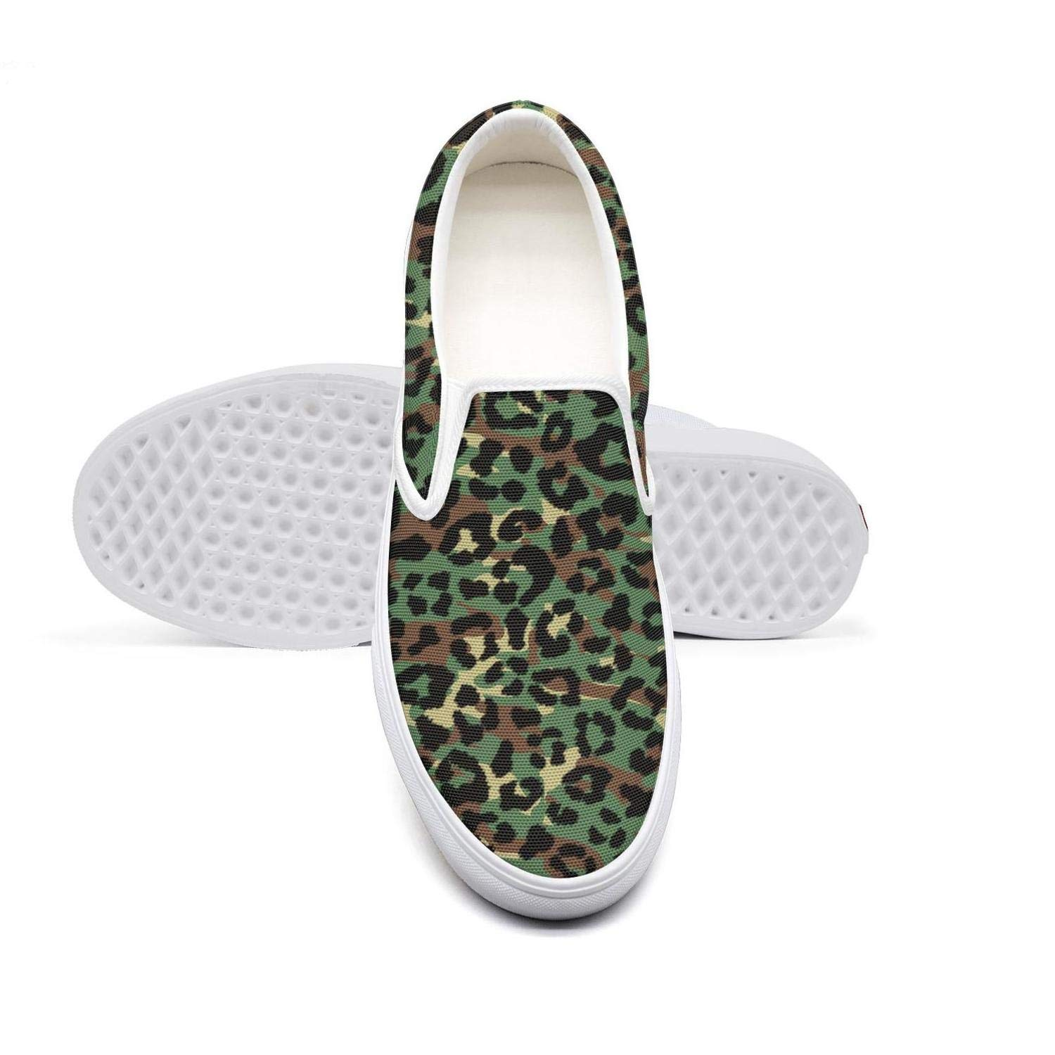 Womens Slipon Canvas Shoes for Women Leopard Cheetah Print Zebra Pattern Dark Yellow Sneakers Awesome Non Slip Sneakers Shoes