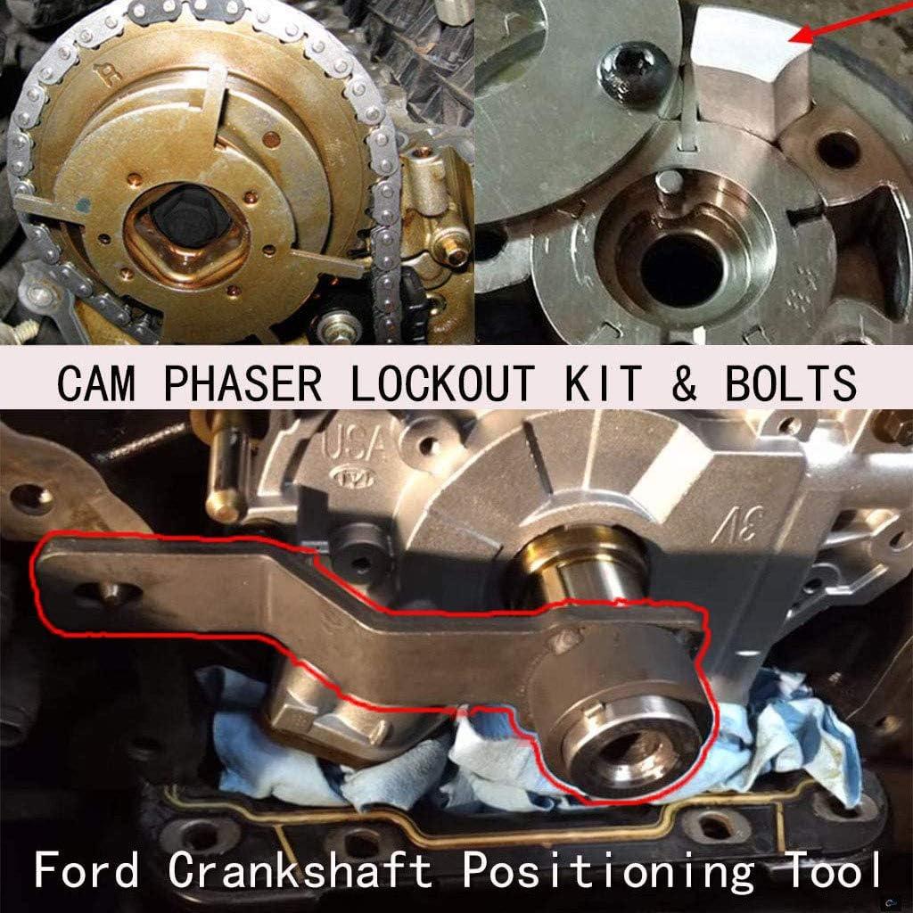Cam Phaser Holding Tool N//R Engine Repair Tool Kit for Ford 4.6L//5.4L//6.8L 3V Valve Spring Compressor Cam Phaser Lockout kit,Crankshaft Positioning Tool Timing Chain Locking Tool /& Pulley Bolt