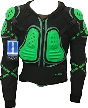 XTRM Kids Motocross Body Armour Orange Black Dirt Bike Off Road Edge MX Chest Deflector CE Approved New for 2019