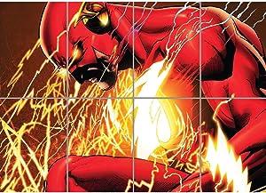 Doppelganger33LTD The Flash Comic Book Poster - Cartoon Giant Art Print G1071