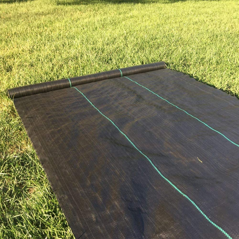 MTB 3 Ft Width by 50 Ft Length Weed Conrol Woven Fabric Also Available in 4 Ft Width and 150 Ft Length Weed Block PP Black Weed Barrier Landscape Fabric Degradable Eco-Friendly
