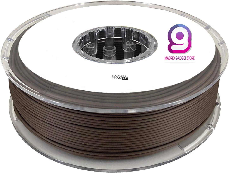 MadridGadgetStore® Filamento PLA 1.75 mm 1.75mm Madera Nogal 450 ...