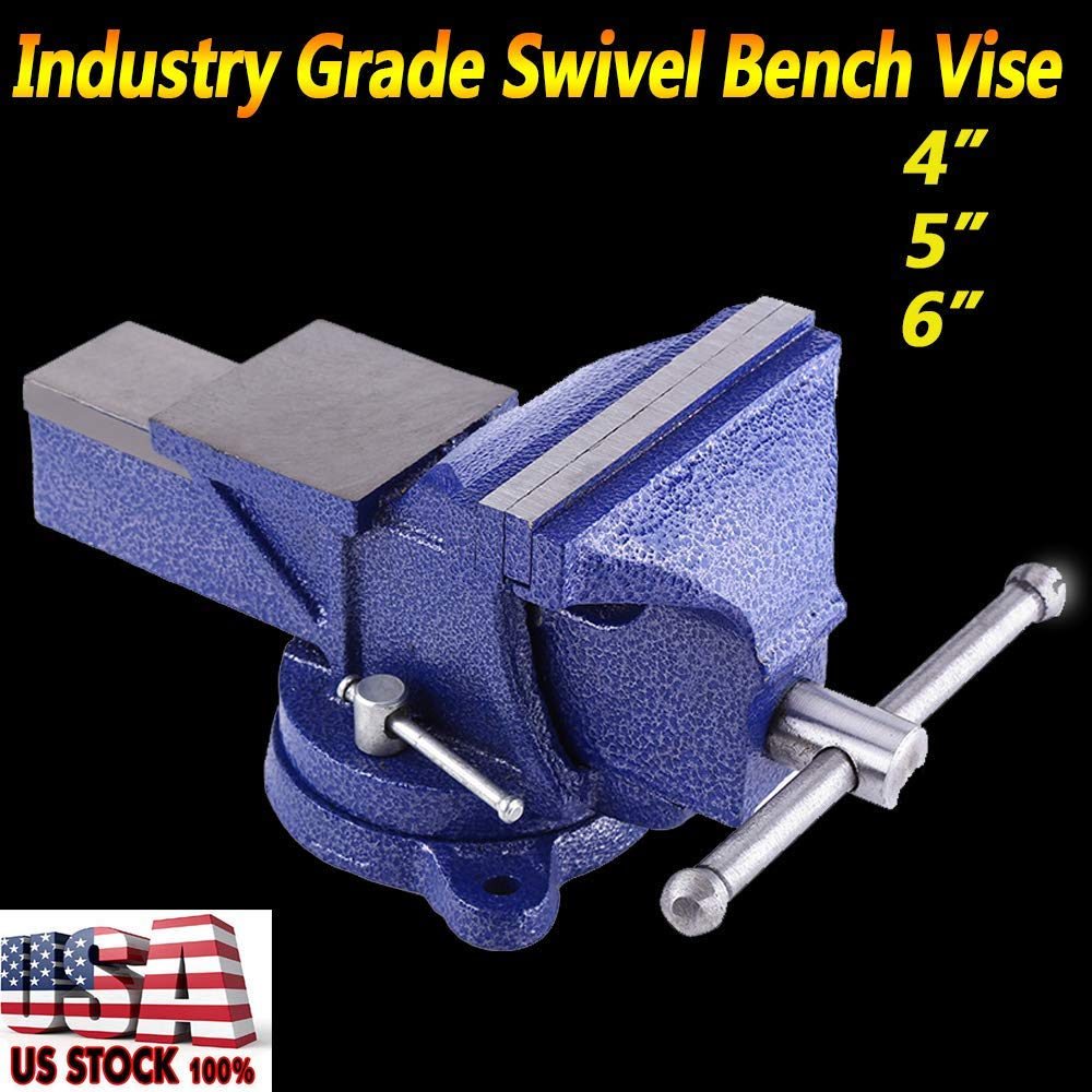 akasaw98 6 inch Mechanic Bench Vise Table Top Clamp Press Locking Swivel Base Heavy Duty US by akasaw98