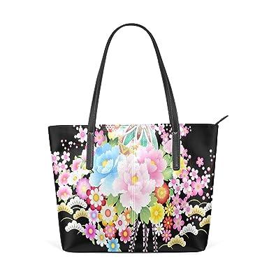 Amazon.com: Para mujer bolsos de piel corazón verde bolsos ...