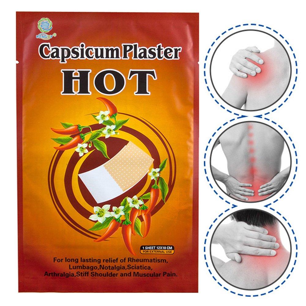 KONGDY Back Pain Relief Patch, Hot Capsicum Plaster Joint Pain Killer,15Pcs