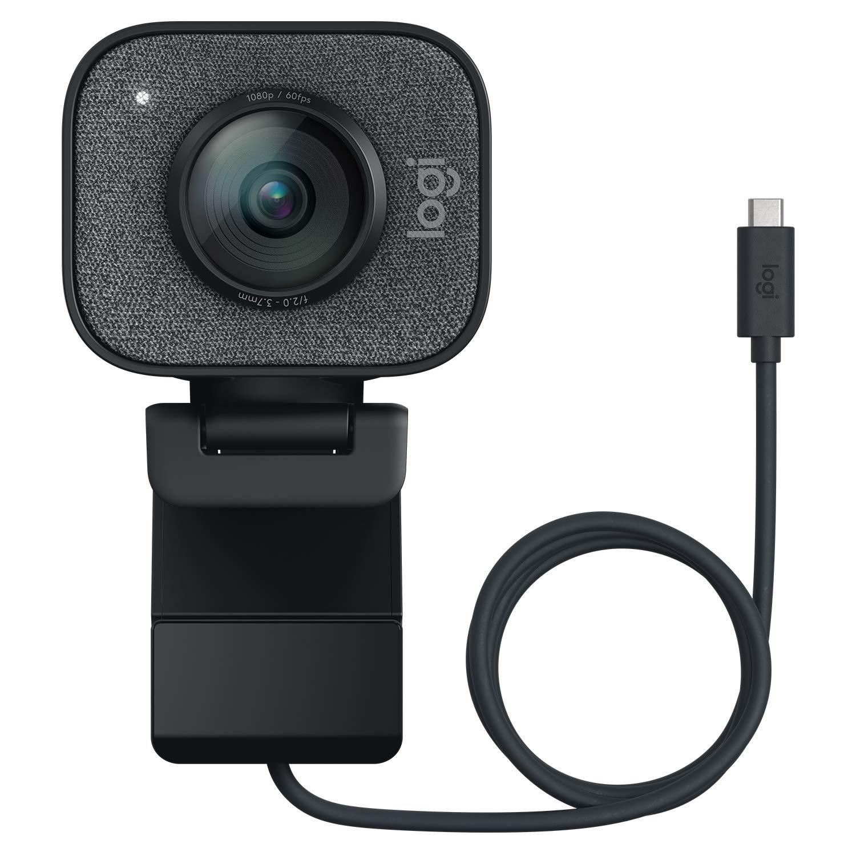 Logitech StreamCam Plus Webcam with Tripod (Graphite)