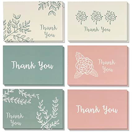 Amazon Com Best Paper Greetings Thank You Cards 48 Count Thank