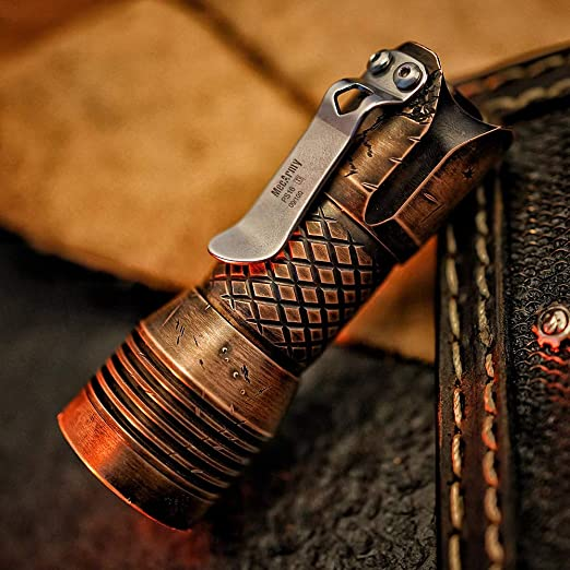 2000 Lumens 4Modes EDC Flashlight MecArmy Limited Edition PS16 Copper Scar Max