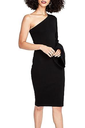 RACHEL Rachel Roy Women s One-Shoulder Bell-Sleeve Bodycon Dress Black XS 2a9cff240b