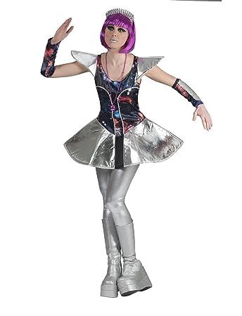 Kostum Space Girl Grosse 44 46 Damen Galaxy Muster Alien Astronautin
