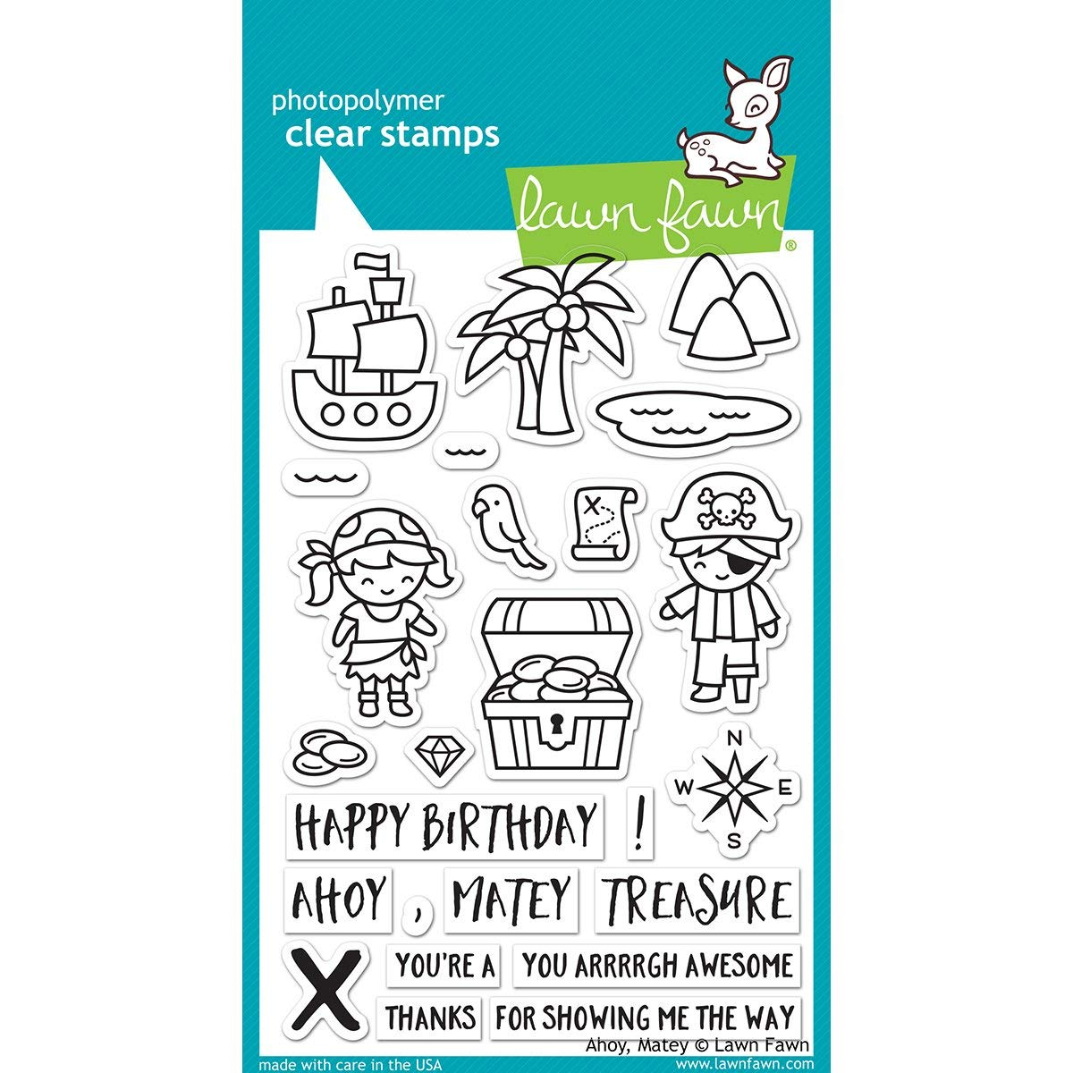 Lawn Fawn LF1411 Ahoy matey clear stamps