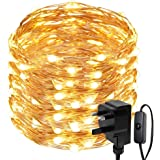 LE 20m 200 LED String Lights Waterproof Copper Wire Lights Warm White Fairy Starry Lights Firefly Lights for Garden Patio Party Wedding Outdoor Decoration and More