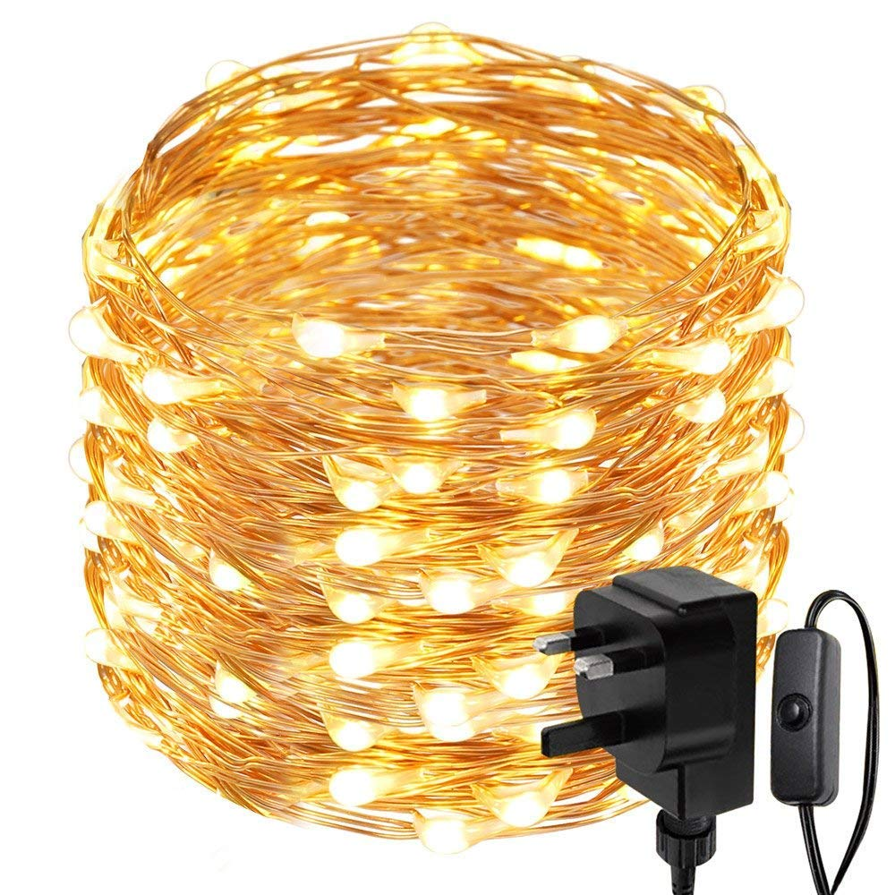 Le 20m 200 Led String Lights Waterproof Copper Wire Warm Lightbulb Learning Wiring White Fairy Starry Firefly For Garden Patio Party Wedding Outdoor Decoration