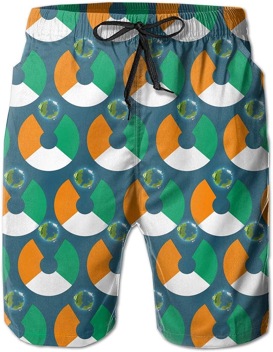 Abfind Bañador para Hombre Cote DLvoire, Bandera de Eat The Earth, Pantalones Cortos de Playa de Secado rápido, L: Amazon.es: Ropa y accesorios