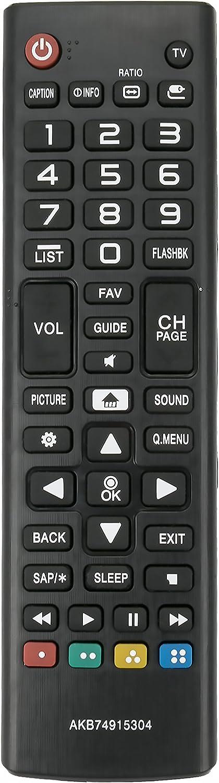 Nicht im Lieferumfang enthalten dauerhafte Fernbedienung f/ür LG 42LE4500 AKB72914209 AKB74115502 AKB69680403 47LE5310 42LE5310 55LE5310 Bewinner TV-Fernbedienung Ersatz