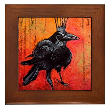 ffa2a893 Amazon.com: CafePress - Darlington, The Raven King - Framed Tile ...