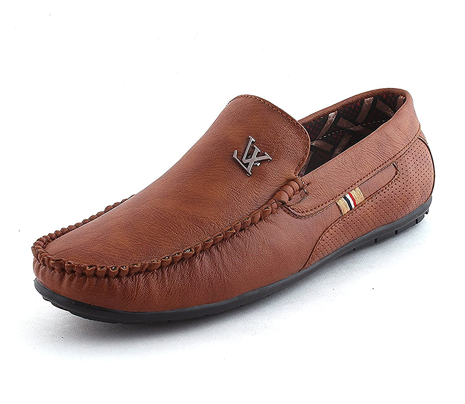f1172732982 Ethics Perfect Brown Loafer Shoes for Men  Buy Online at Low Prices in  India - Amazon.in