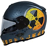 TORC T14B Bluetooth Integrated Mako Nuke Full Face Helmet (Flat Grey, Large)