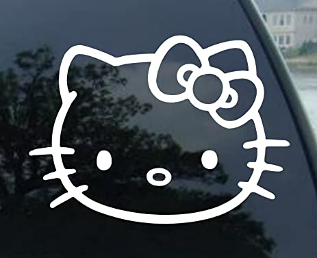 Hello Kitty Decals Amazoncom Hello Kitty Vynil Car Sticker Decal - Window decals for cars and trucksbest gambler images on pinterest hello kitty vinyl decals