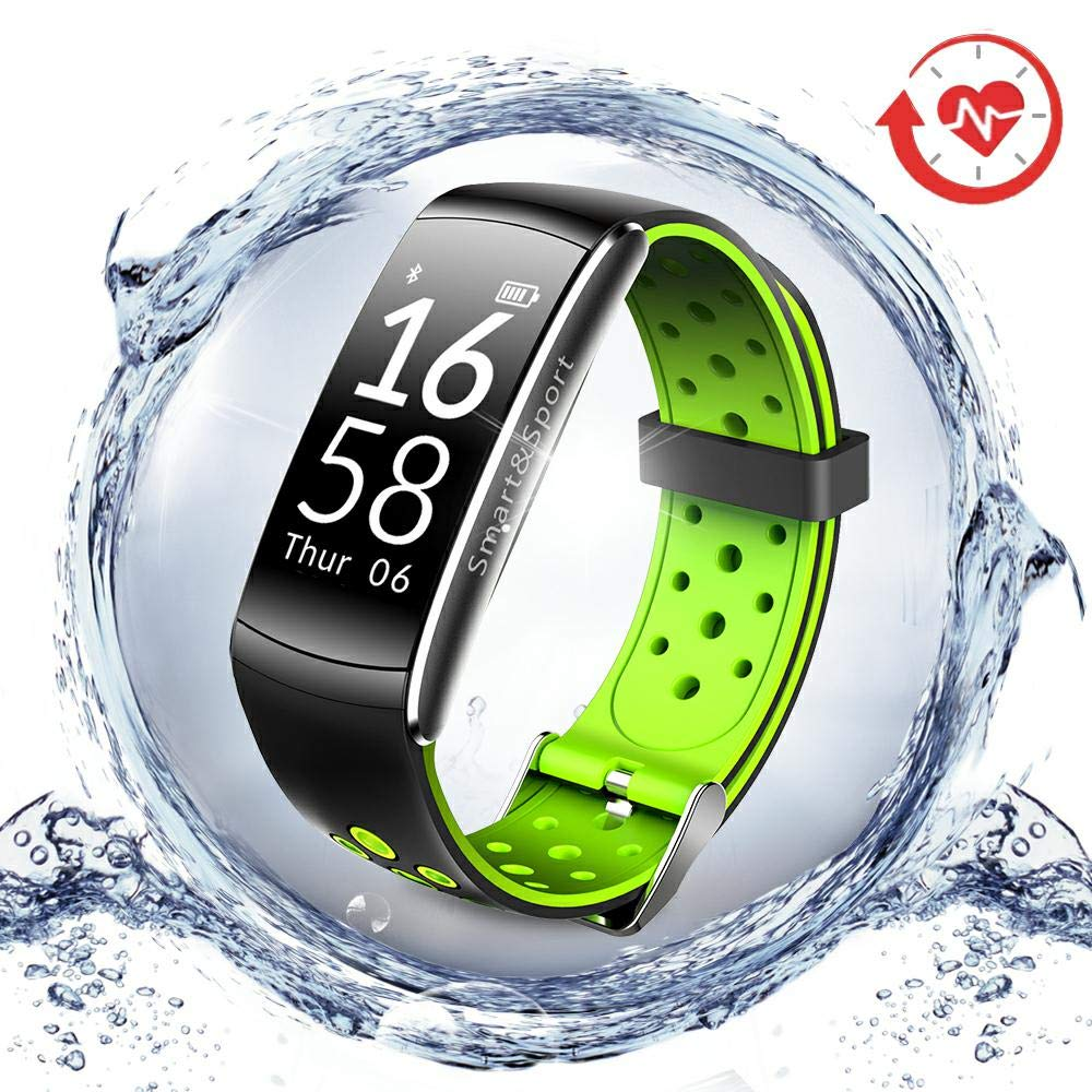LNGOOR Fitness Tracker Watch Activity Tracker Watch - Fitness Watch, IP68 Waterproof Step Calorie Counter Pedometer Watch for Yoga,Running,Cycling - Green