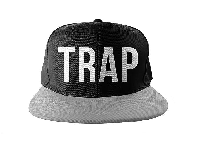 Trap Cool Swag Hip Hop impresión Snapback Sombrero Gorra Tapa Negro Gris: Amazon.es: Ropa y accesorios