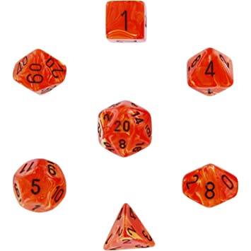 Polyhedral Dice Vortex Orange Amazonde Spielzeug