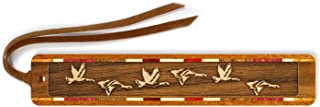 product image for Geese, Engraved Wooden Bookmark with Suede Tassel - Also Available Personalized