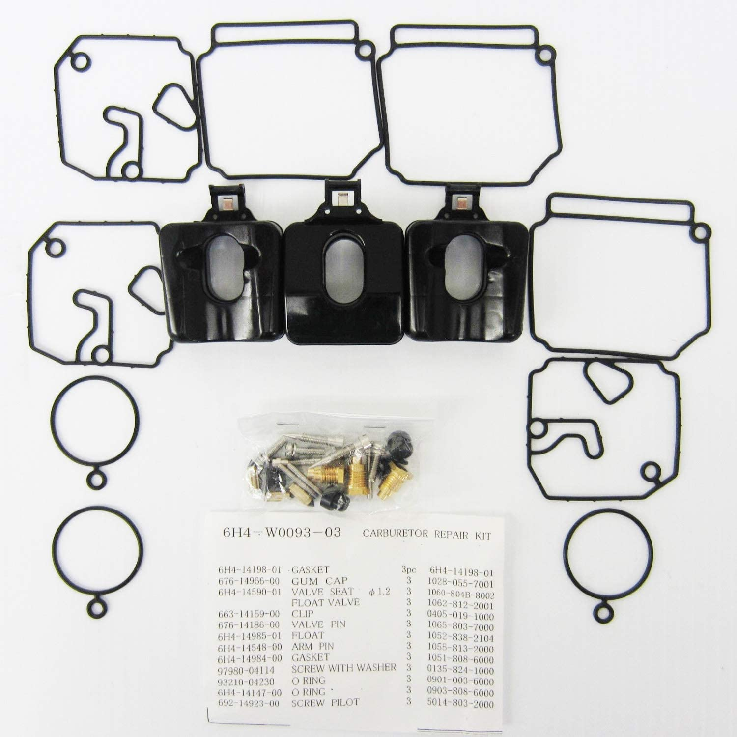 OEM Yamaha 40-50 2-stroke Outboard Carburetor Repair Kit 6H4-W0093-03-00