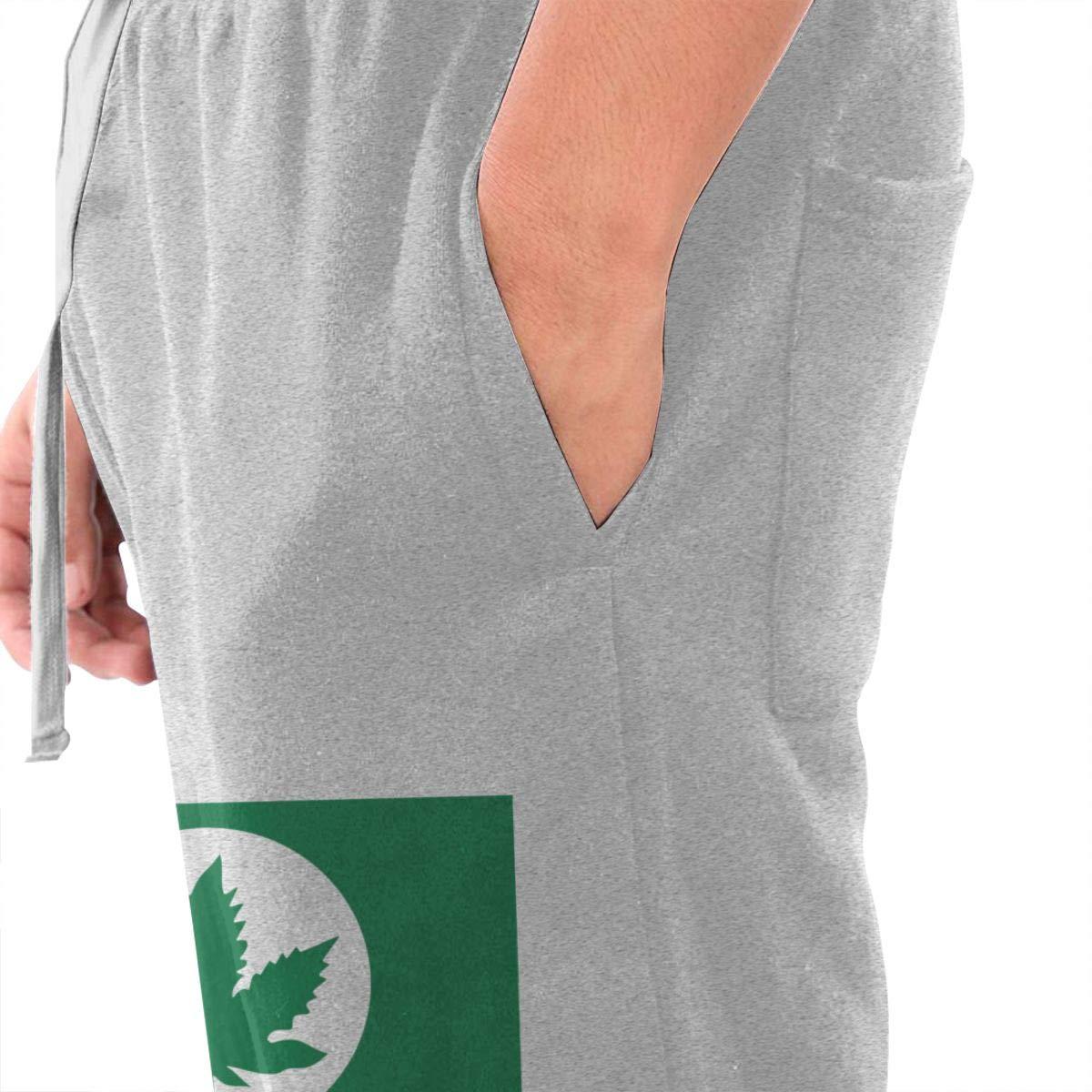 Dbou Washington State Tree Logo Drawstring Waist,100/% Cotton,Elastic Waist Cuffed,Jogger Sweatpants Black