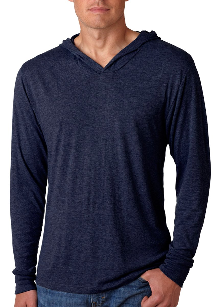 Next Level Apparel Tri-Blend Extreme Soft Rib Knit Hoodie, VINTAGE NAVY, Large by Next Level Apparel