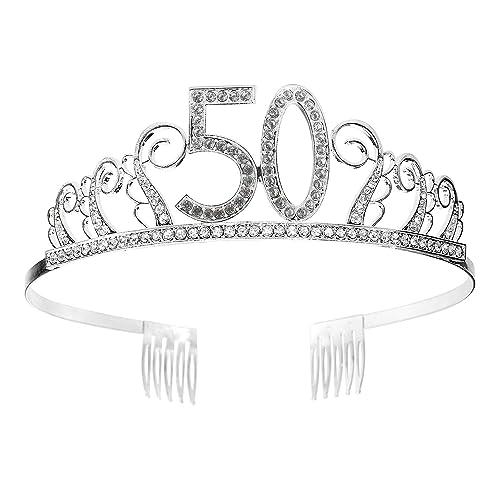 Tiara Cumpleaños Corona 50TH con Peine Artículos de Fiesta y ...