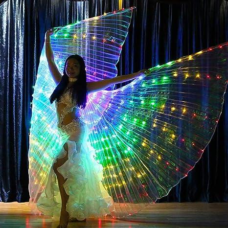 Alas de luz led Bailarina luminosa alas de baile de cinco ...