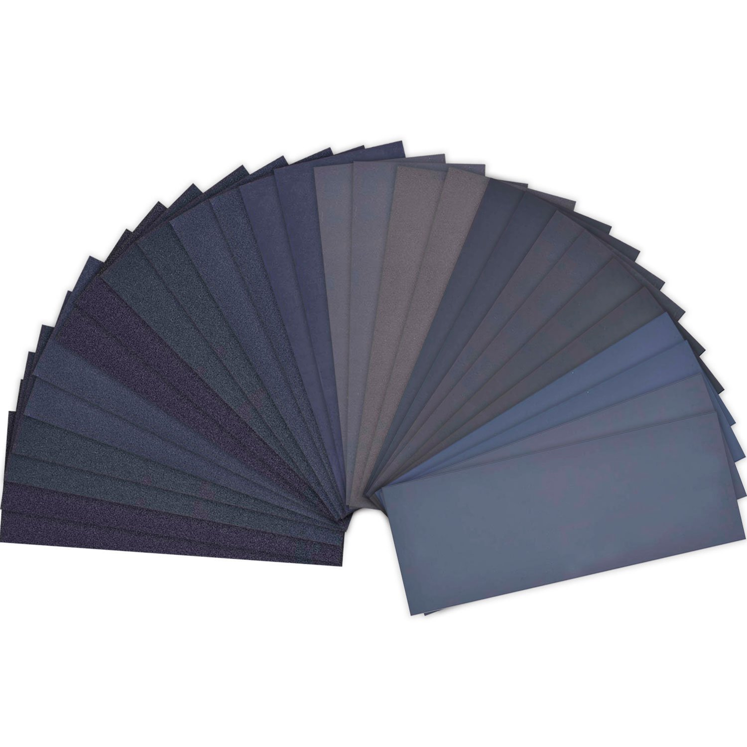 28 Pieces 120 to 3000 Grit Wet Dry Sandpaper Assortment Abrasive Paper Sheets 9 by 3.6 Inches for Automotive Sanding, Wood Furniture Finishing, Wood Turing Finishing LANHU
