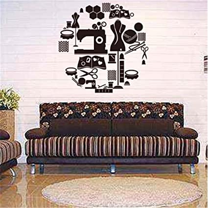 Vinyl Wall Art Inspirational Quotes and Saying Home decor Decal Sticker Tailors Shop Sewing Machine Iron