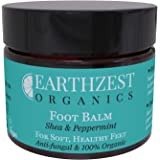 Foot Cream - Best For Cracked Heels, Hard Skin, Athletes Foot & Fungal Nail (Safe for Diabetics Feet) - As Seen in Daily Mail - 100% Organic Skin Care - All Natural Chemical Free Antifungal Barrier Cream To Help Dry, Itchy, Irritated Skin - Reduces Redness & Pain (Antibacterial & Anti-Inflammatory) - Handmade By Earthzest Organics UK - NEW 60ml Travel Size - Ideal Gift - Love it or Your Money Back!