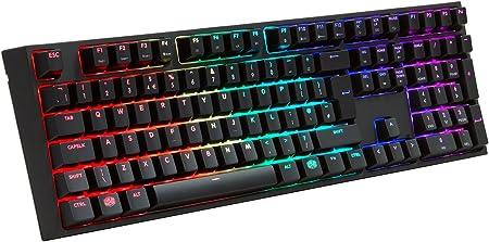 Teclado de gaming MasterKeys Pro L, mecánico, tamaño completo, de Cooler Master RGB LED Full Size