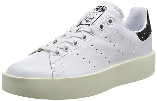 new style c56fb 4de15 adidas Originals Stan Smith Bold W, running whiterunning whitecore black,  9,5 Amazon.es Zapatos y complementos
