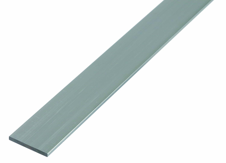 Profil/é plat plastifi/ée blanc 1000 x 30 x 2 mm aluminium