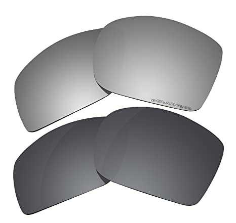97503b02a0 Image Unavailable. Image not available for. Color  2 Pairs Polarized Lenses  Replacement for Oakley Big Taco Sunglasses Black   Black Mirror