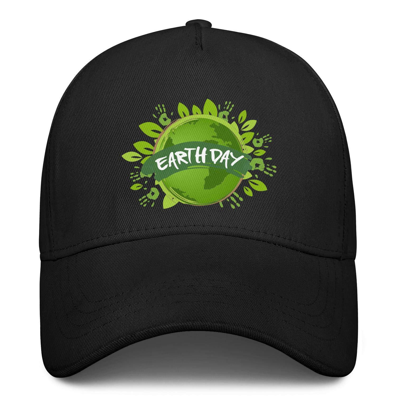 Happy Earth Day Unisex Baseball Cap Ultra Thin Sun Hats Adjustable Trucker Caps Dad-Hat